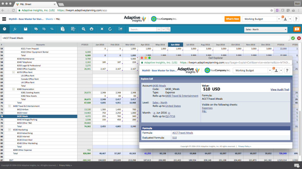 Adaptive Planning Software - Adaptive Planning In-app audit trails