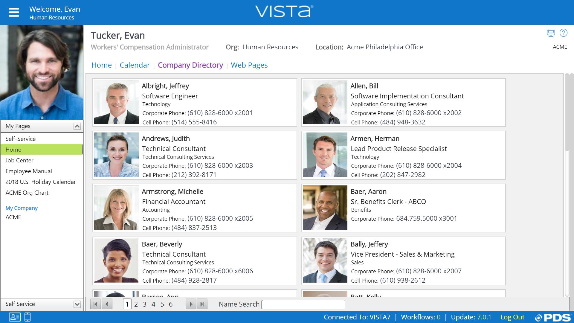 Vista Software - PDS Employee Directory