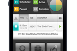 Capture d'écran pour FieldAware : Employees can view their daily schedules from the mobile app