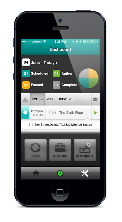 Employees can view their daily schedules from the mobile app