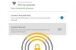 Norton WiFi Privacy VPN screenshot: Norton Secure VPN tablet security