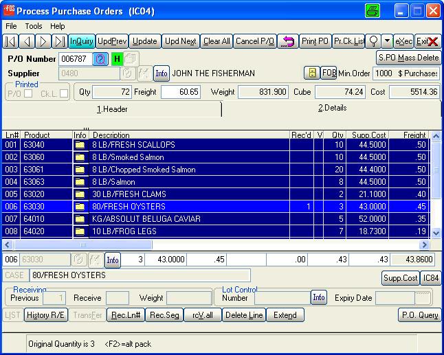 WinFDS Software - 3