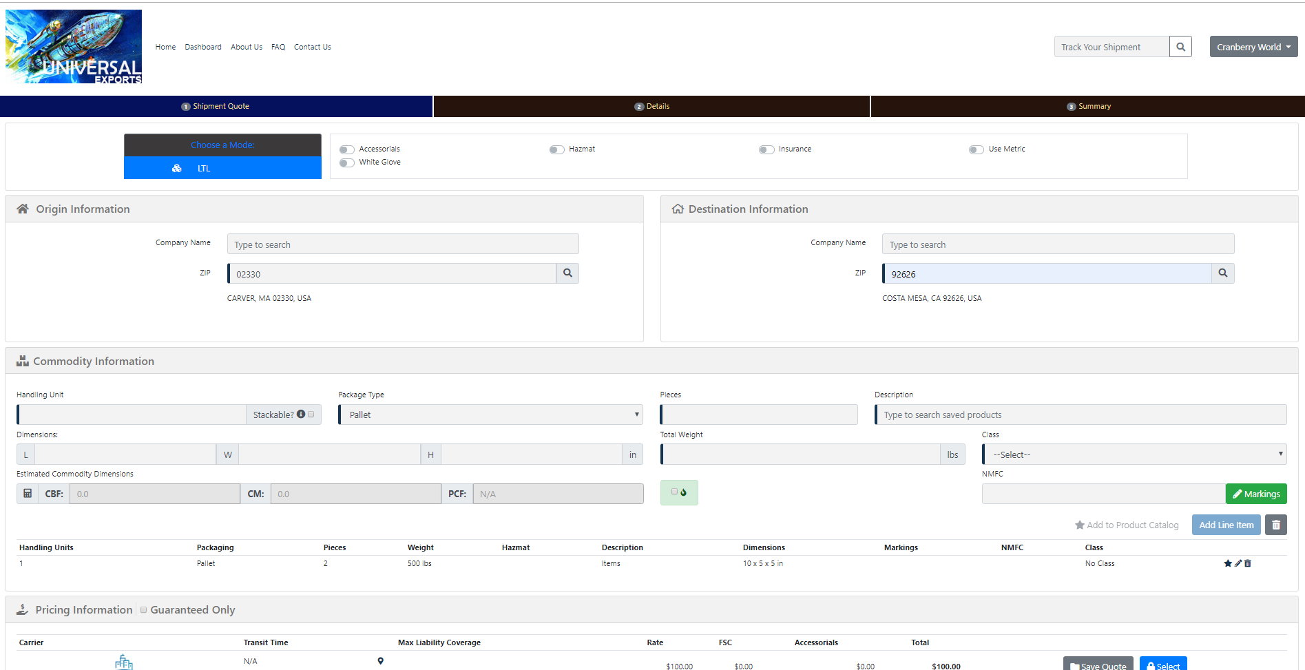 Front-office Customer Portal