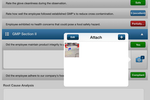 Intertek Alchemy screenshot: Upload and attach photos and images to answer questions for visual support