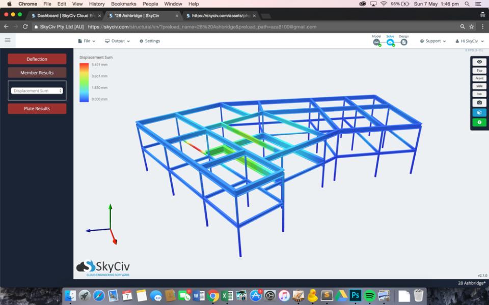 SkyCiv Structural 3D Software - 3D Rendering