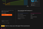 Pluralsight Skills screenshot: Pluralsight Skills skill IQ results