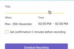 Capture d'écran pour Vmaker : Vmaker schedule recording