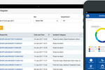 ASK-EHS Safety Management Software screenshot: Track incidents and log them within the incident register and via mobile device