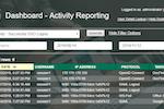 PortalGuard screenshot: Dashboard Report Example