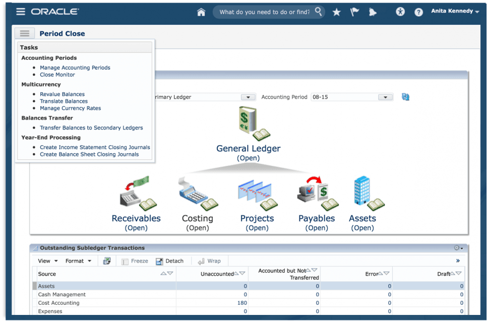 Oracle Fusion Cloud ERP Software - Period close power user
