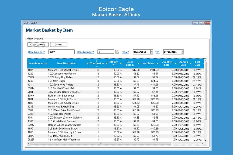 Epicor Retail Solutions screenshot