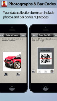 Use pictures and scan bar codes using Harvest Your Data solution