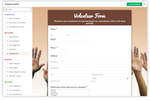Captura de pantalla de Zoho Forms: templates-web