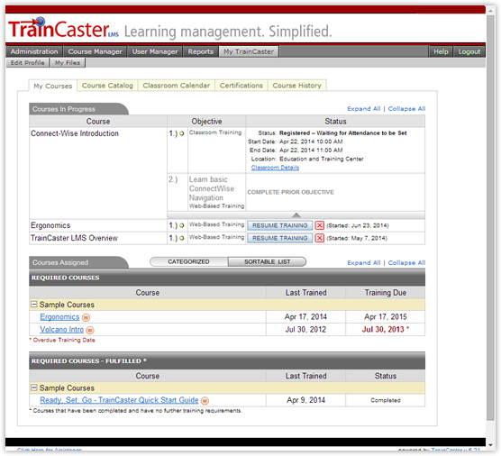 TrainCaster LMS Software - 2