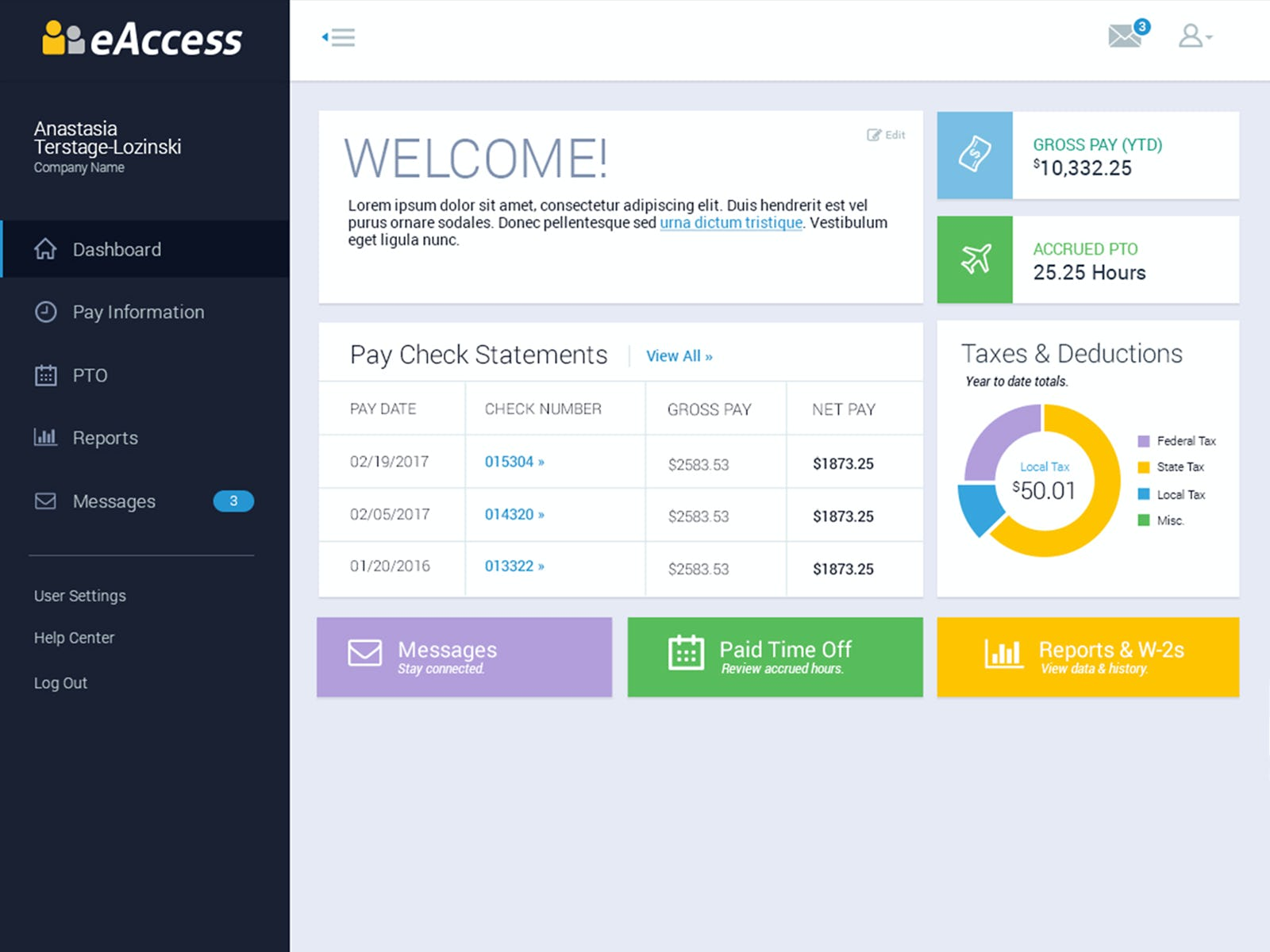 FOUNDATION Software - FOUNDATION eAccess employee pay portal