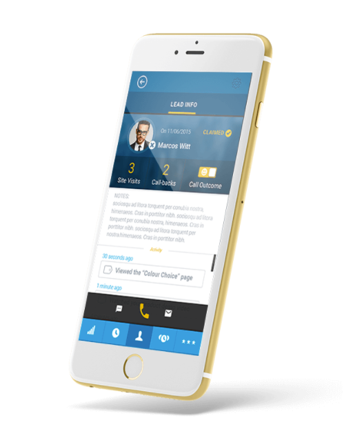 Users can connect and manage leads via mobile device, as well as integrate with their current CRM