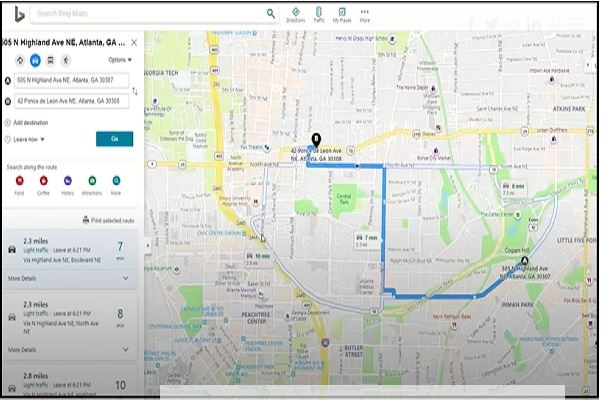 Mobile Field Service Management for Business Central map