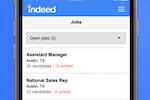 Indeed screenshot: Manage all job listings via mobile device