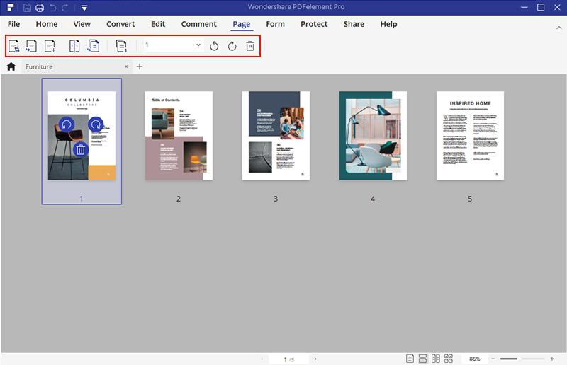 HiPDF - edit pages