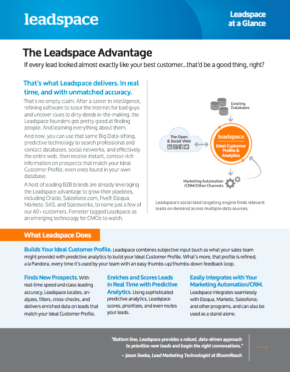 leadspace.com - CRM -  - Advantage