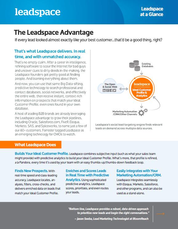 Leadspace Software - leadspace.com - CRM -  - Advantage