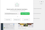 Captura de pantalla de Flock: Email an entire channel in one go with Flock's auto-generated mailing lists