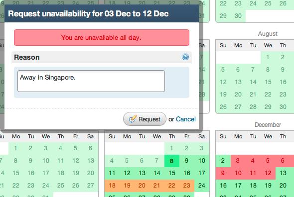 GoAssign Software - Unavailability requests