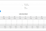 Recipe Costing screenshot: Labor hours reports can be generated to determine the sales value per labor hour