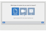 Convergence LMS screenshot: Use the import wizard to upload videos and documents