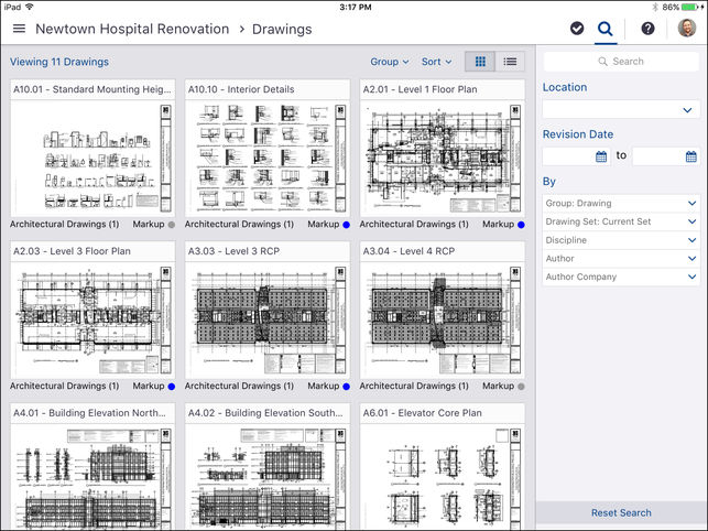 ProjectSight project drawings