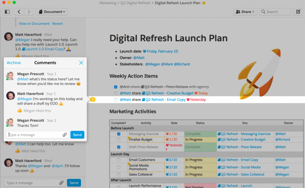 Quip Software - Project plan