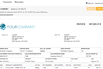 VersaPay ARC screenshot: Schedule invoice payments and track payment statuses