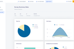 Survio screenshot: Survio survey summary statistics