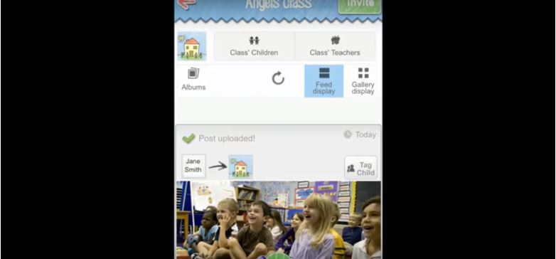 Educators can tag children in photographs