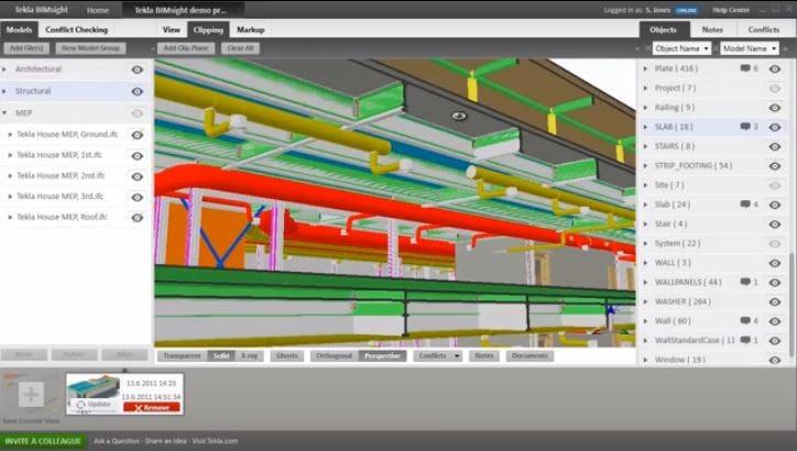Tekla Structures Software - Clip planes