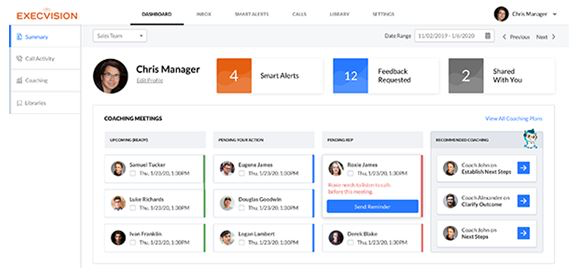 Executive & manager dashboards