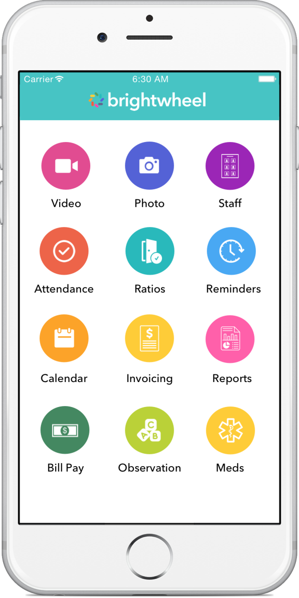 brightwheel mobile Application