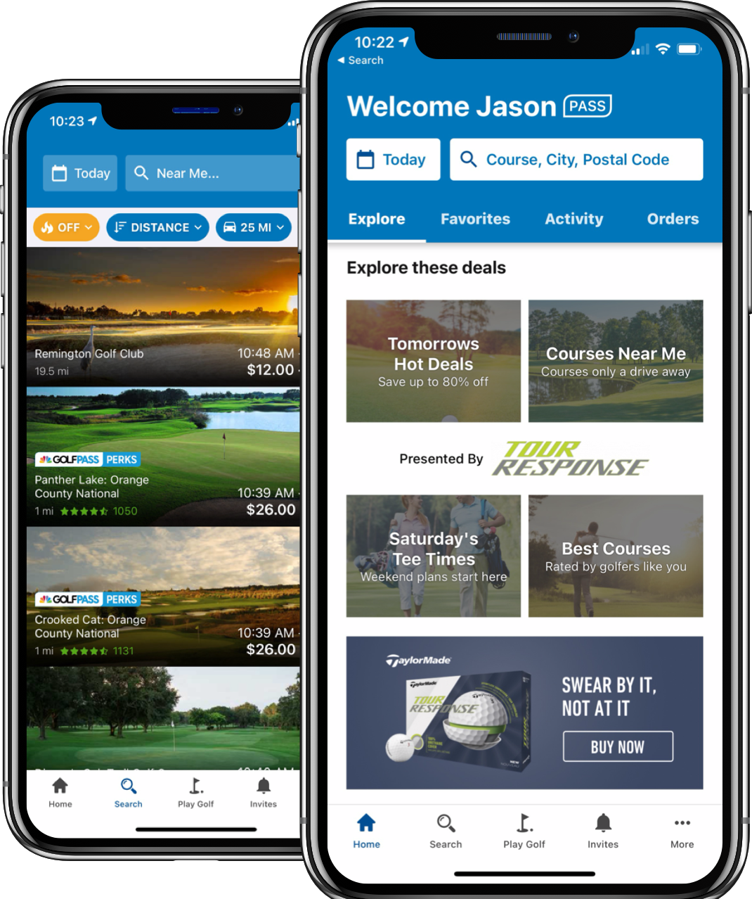 GolfNow Software - GolfNow mobile app