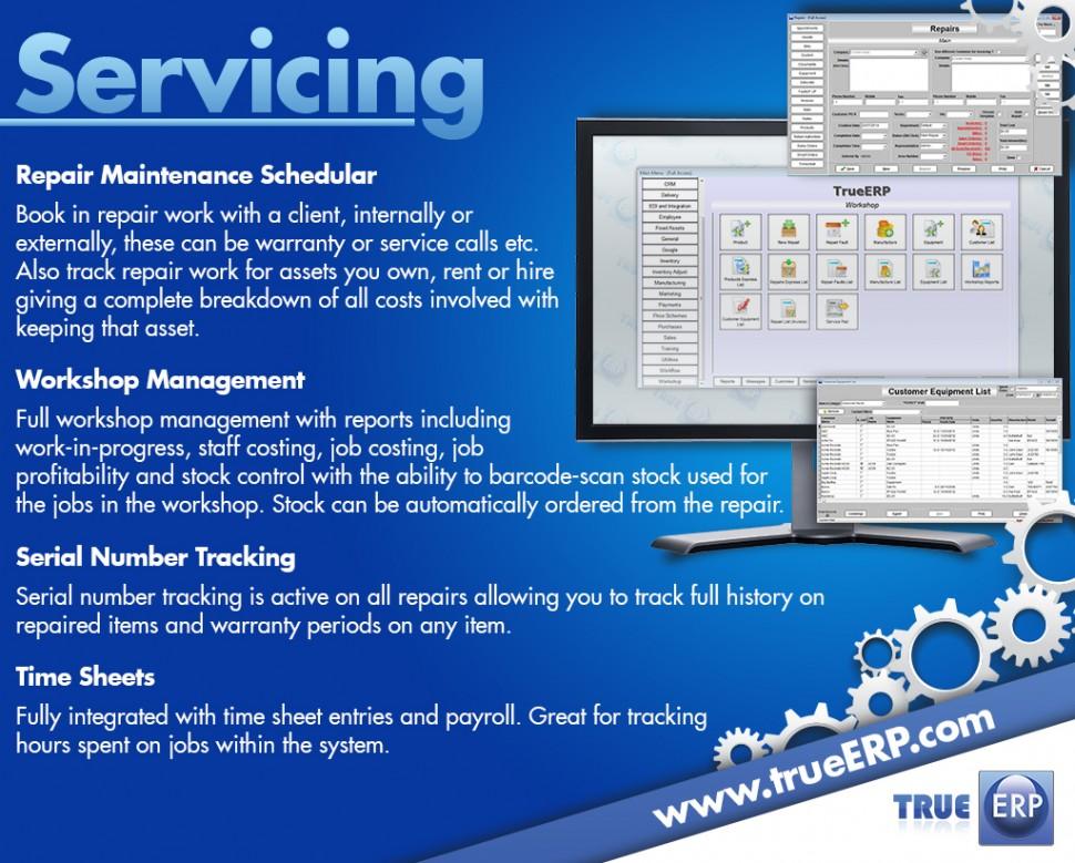 TrueERP Software - Servicing