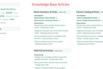 KronoDesk screenshot: Integrated knowledge base of common problems and their solutons