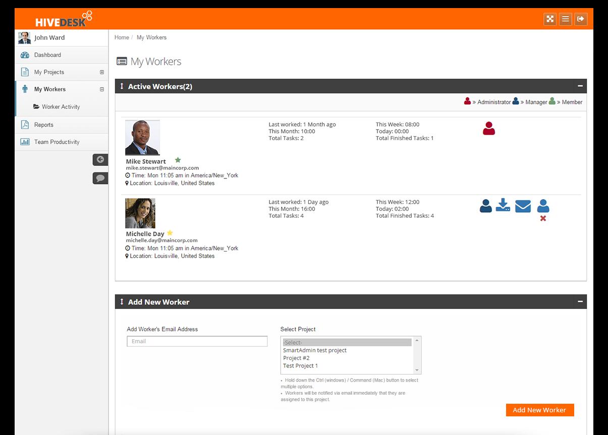 HiveDesk Software - Worker management