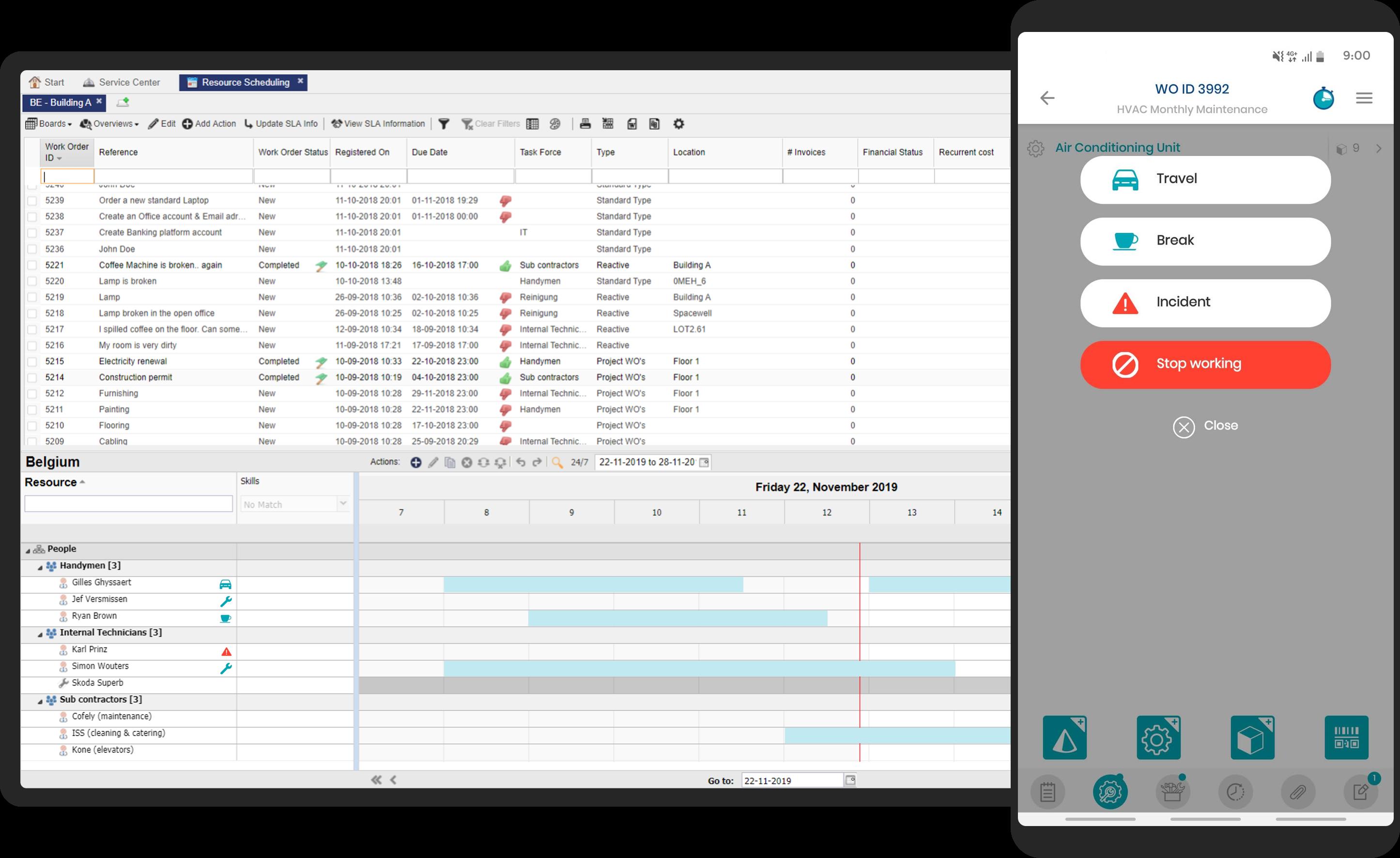 Spacewell Software - Work scheduler & work status