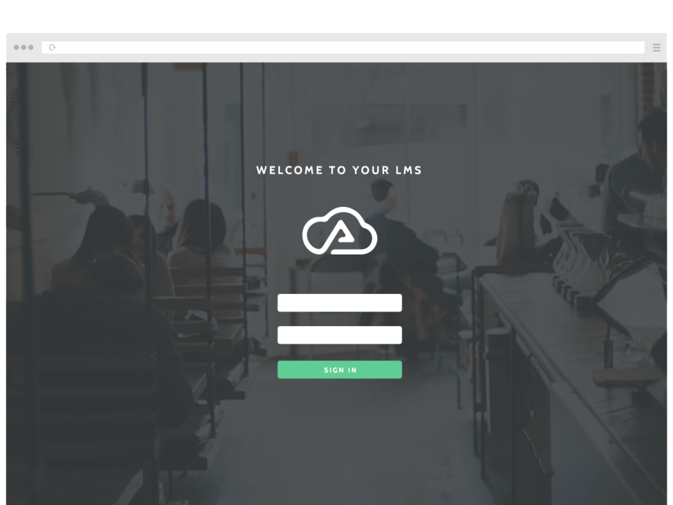Wisetail provides users with a custom branded LMS, including a custom system name and login page