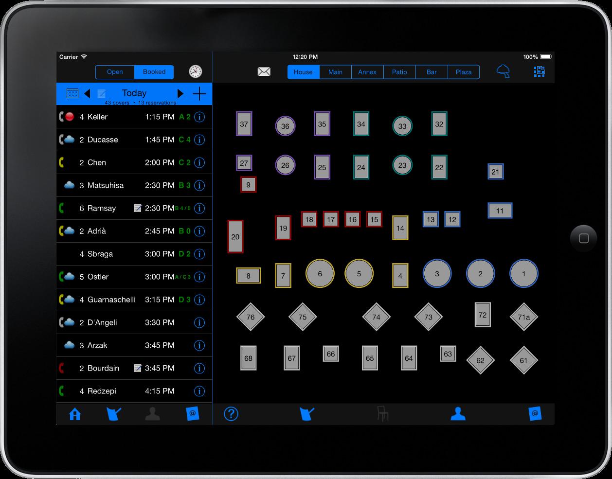 Maitre'D on iPad - Table management