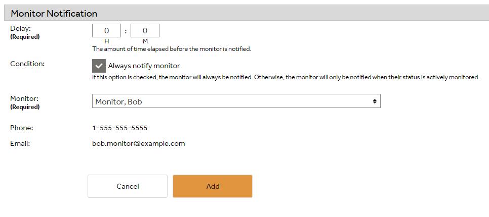 SafetyLine Lone Worker monitor notification
