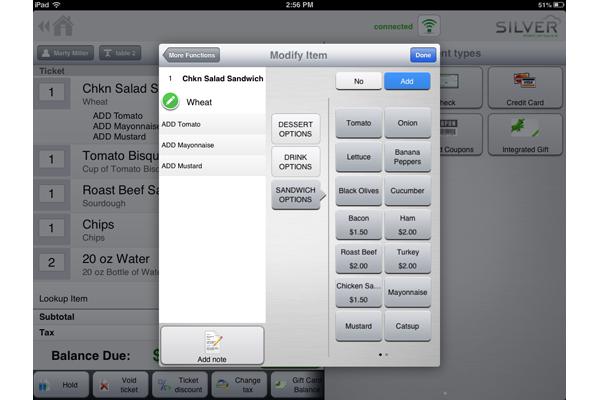 NCR Silver Software - Modify items
