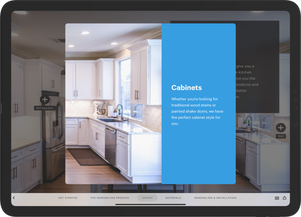 Interactive buttons built into the presentation allow you to dive deeper and solve more customer problems without lengthening your presentation.