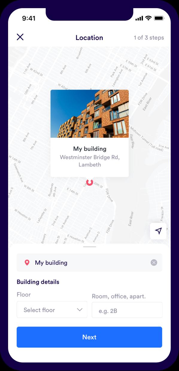 Urbest location details screenshot