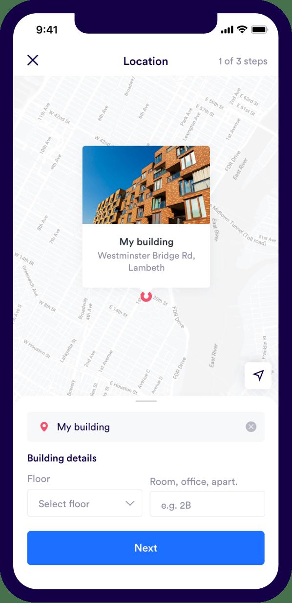 Urbest Software - Urbest location details screenshot