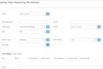 Infoplus screenshot: Receiving worksheets can be created